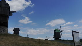 Windmill. Beautiful pictures taken in Ukraine Stock Photo