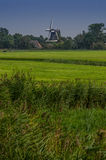 Windmill Behind Farmland Vertical Royalty Free Stock Images