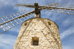 Windmill in Belmonte, province of Cuenca, Castilla La Mancha, Spain Royalty Free Stock Images
