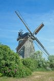 Windmill of Benz,Usedom Island,baltic Sea,Germany Stock Images