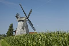 Windmill Bierde (Petershagen, Germany) Royalty Free Stock Images