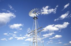 Windmill in Big Sky Country, MT Royalty Free Stock Photos