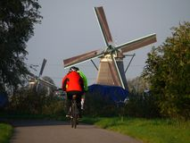 Windmill bikers Stock Photos