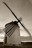 Windmill in black and white Royalty Free Stock Photo
