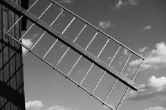 Windmill blade. Black and white windmill blade Stock Photos