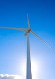 Windmill On Blue Sky. Alternative Energy Future stock image
