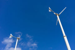Windmill with blue sky and cloud Royalty Free Stock Image
