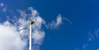 Windmill with blue sky and cloud Royalty Free Stock Photography