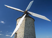 Windmill in blue sky Royalty Free Stock Photo