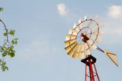 Windmill forest stock photos