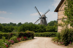 Windmill in Bokrijk Royalty Free Stock Image