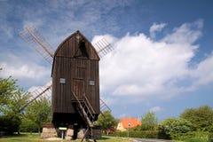 Windmill on Bornholm. Becks Molle, windmill in Svaneke on Bornholm, Denmark royalty free stock image