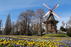 Windmill in Bremen, Germany. An old windmill during spring in Bremen, Germany Royalty Free Stock Photography