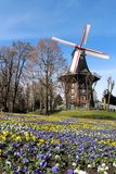 Windmill in Bremen, Germany. An old windmill during spring in Bremen, Germany Stock Image