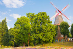 Windmill in Bremen Stock Images