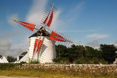 Windmill in Bretagne Stock Photography