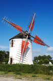 Windmill in Bretagne Stock Photo