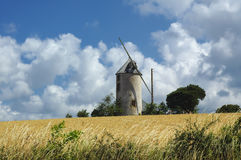Windmill in Brittany Stock Photo