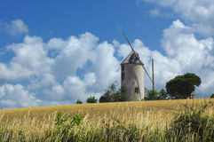 Windmill in Brittany Royalty Free Stock Photos