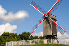 Windmill, bruges Royalty Free Stock Images