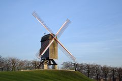 Windmill in Bruges Stock Images