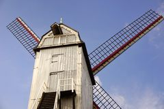 Windmill in Bruges. Beautiful windmills in Belgium Royalty Free Stock Photography