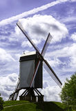 Windmill at Bruges, Belgium Royalty Free Stock Photography