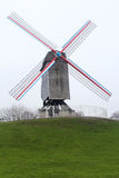 Windmill in Brugge, Belgium Stock Photography