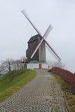Windmill in Brugge, Belgium Royalty Free Stock Photos