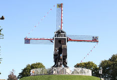 Windmill in Brugge, Belgium,. This is one of the Windmills in Brugge, which you can visit and have a look inside Stock Images