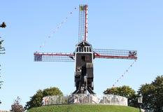 Windmill in Brugge, Belgium, Stock Images