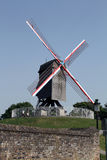 Windmill in Brugge, Belgium, Royalty Free Stock Photo