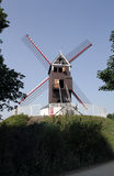 Windmill in Brugge, Belgium,. This is one of the Windmills in Brugge, which you can visit and have a look inside Stock Image