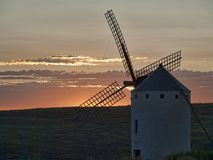Windmill from Campo de Criptana Don Quixote land. Windmill from Campo de Criptana in Ciudad Real Don Quixote land stock images