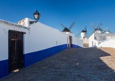 Windmill at Campo de Criptana La Mancha, Spain Stock Photography