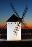 Windmill at Campo de Criptana in sunset Stock Photography