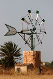 Windmill campos. Typical windmill in campos, mallorca Stock Images