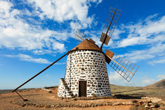 Windmill on Canary Islands Royalty Free Stock Photo