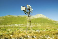 Windmill at Cape Point, Cape of Good Hope, outside Cape Town, South Africa royalty free stock photography
