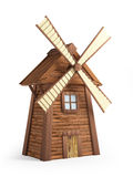 Windmill. Cartoon windmill isolated on white background. 3d illustration Royalty Free Stock Images