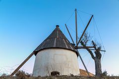 Windmill in Cavo de Gata Royalty Free Stock Photo