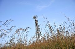 Windmill Cellular Tower Royalty Free Stock Photography