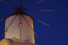 A windmill. With characteristic of classical Greece Stock Image
