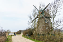 Windmill Charlotte at the Geltinger Noor Royalty Free Stock Images