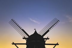 Windmill in the citadel of Copenhagen royalty free stock image