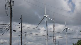 Windmill, Clean Energy from Wind Power Farm, Electricity Stock Photography