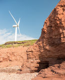 Windmill by the cliffs Stock Photos