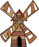 Windmill clip art cartoon illustration Stock Photography