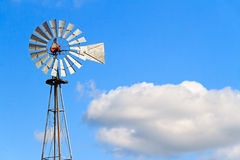 Windmill and Cloud Stock Image