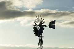 Windmill. With clouds in the morning Royalty Free Stock Images